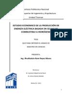 Estudio economico de la produccion de energia electrica basada en celdas de combustible a hidrogeno.pdf