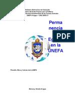 Informe (Permanencia y Egreso en la Unefa)