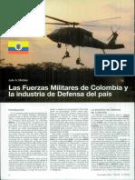 Las fuerzas miliatres de Colombia y la industria de defenza del pais, articulo