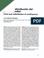 crisis y redistribucion del poder mundial, articulo academico