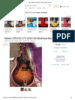 Gibson 1954 ES-175 2014 Jim Dickinson Burst Reverb