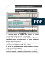 CONTEÚDO PROGRAMÁTICO - Provas 1 e 2