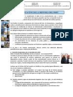 PERIODIFICACION DE LA HISTORIA DEL PERU SEPARATA 2020