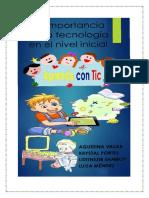 Trabajo final Pedagogía Infantil - La Tecnología en el nivel inicial. Grupo-4