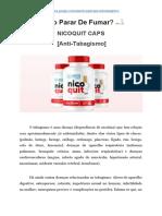 Como Parar de Fumar - Nicoquit Caps