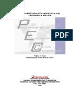 Procedimientos de Evaluacion de Calidad Cartografica Analoga (ISO19113 ISO19114)