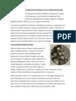 PROCESO DE COLONIZACIÓN ESPAÑOLA EN EL ITSMO DE PANAMÁ