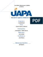 TAREA IV Control Interno y Efectivo