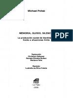 Michael Pollak - Memoria, olvido, silencio. La producción social de identidades frente a situaciones límite.pdf