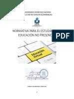 NORMATIVA DE EDUCACION VIRTUAL 2020