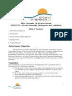 Module 12 Human Resources Management and Legislation