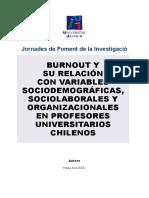 Burnout y su relación con variables sociodemográficas