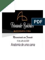 Fernando Belchior - Marcenaria fina - Youtube - Marceneirando com Fernando - 20200715 - Anatomia de uma cama