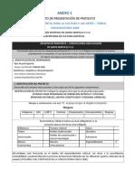 Anexo 1. Formato de presentación de la propuesta