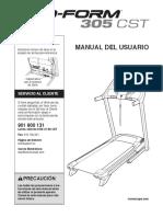 Manual Caminadora PRO-FORM 305 CST