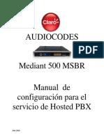Manual de Audiocodes - v3.1 Version 7.20