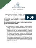 CCSD School Reopening Update - August 4