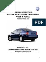 GOLF-JETTA 2.0 L. INYECCIÓN Y ENCENDIDO
