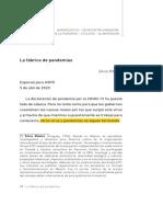 Ribeiro, S. - La Fábrica de Pandemias