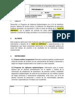 PRG-SST-006 Programa Vigilancia Epidemiologica Conservación Auditiva
