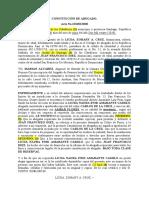 Constitucion de Abogado Zoha Correción