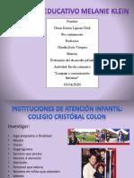 Presentacion de 3 instituciones