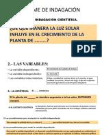 INFORME DE INDAGACION