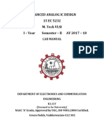 ADVANCED ANALOG IC DESIGN Lab Manual