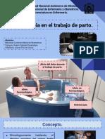 LA HIDROTERAPIA EN EL TRABAJO DE PARTO