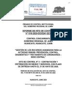 Informe de Control Sobre Laboratorio Molecular Junín