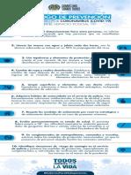 Decálogo de Prevención del contagio por Coronavirus en el servicio polic...