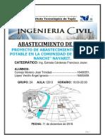 PROYECTO DE ABASTECIMIENTO DE AGUA EN LA LOCALIDAD DE ESTACION NANCHI (PEÑASQUILLO)