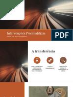Intervenções Psicanalíticas TRANSFERÊNCIA E CONTRATRANSFERÊNCIA remota.pptx
