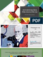 Intervenções psicanalíticas planejamento em POA remoto