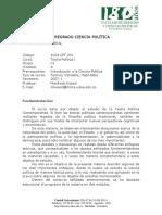 201 Teoria Política I - Manfredo Koessl