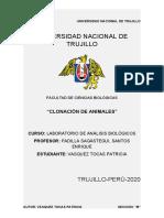 """""""CLONACIÓN DE ANIMALES"""""""