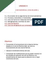 Unidad-4 (Subunidades 4.5-4.6)-Ciclo de Rankine y Refrigeracion