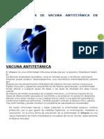 Administración de vacuna antitetánica en adultos