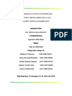 Informe flujo de materiales - Grupo D