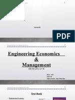 Lecture-00 - Engineering Economics & Management
