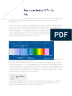 Teoría de los reactores UV de desinfección