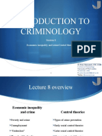 ItC Lecture 8 - Economic inequality and crime - Control theories and radical criminology