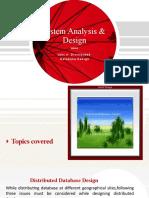 SAD Unit 4 distributed database design