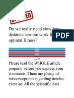 Aerobic Myth