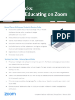 Tips and Tricks for Teachers educating on Zoom