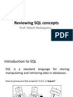 Reviewing SQL Concepts