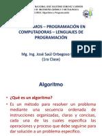 Primera Clase Algoritmos - Programación en Computadoras - Lenguajes de Programación