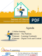 Internet of Education Freemium Tools and Content of Teaching and Learning