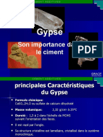 Gypse, Son importance dans le ciment