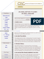 An Aural Method to Learn